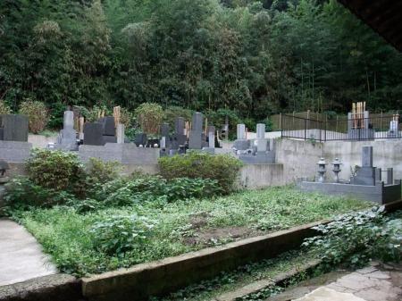 Cemitério ao lado do templo.